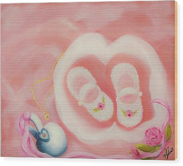 For Baby Wood Print by Joni McPherson