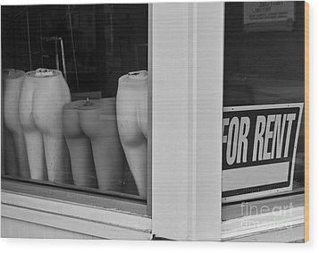 For Rent Wood Print by David Gordon