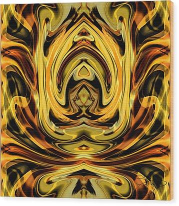 Forbidden Fruit Wood Print by Shy  Blakeman