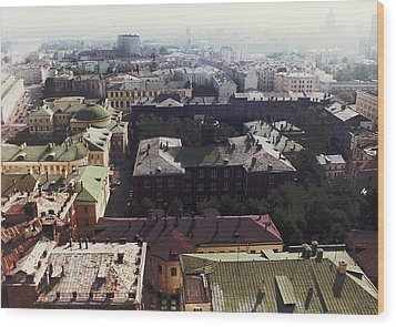 forbidden view over Moscow Wood Print by Nafets Nuarb