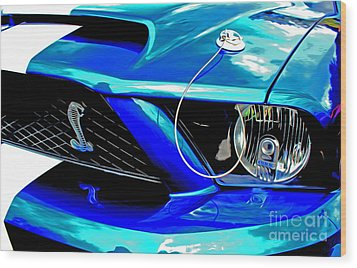Wood Print featuring the digital art Ford Mustang Cobra by Tony Cooper