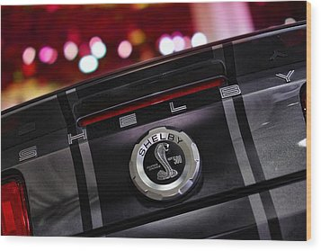 Ford Mustang Shelby Gt500 Super Snake  Wood Print by Gordon Dean II