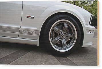 Ford Shelby Gt Wood Print by Nick Kloepping