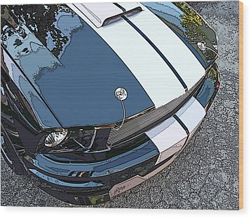 Ford Shelby Gt Nose Study Wood Print by Samuel Sheats