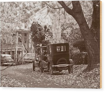Fords At Harpers Ferry Wood Print by Williams-Cairns Photography LLC