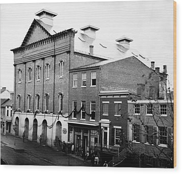 Wood Print featuring the photograph Fords Theater - After Lincolns Assasination - 1865 by International  Images