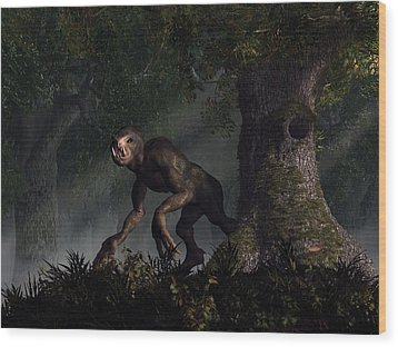 Forest Creeper Wood Print by Daniel Eskridge