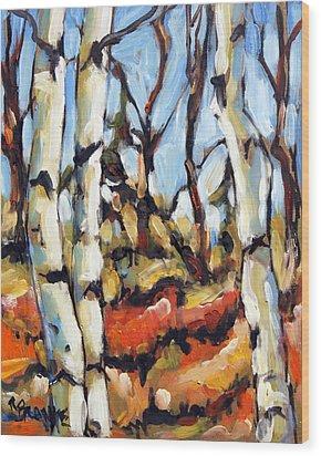 Forest Edge By Prankearts Wood Print by Richard T Pranke
