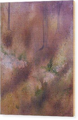 Forest Floor Wood Print by Debbie Homewood