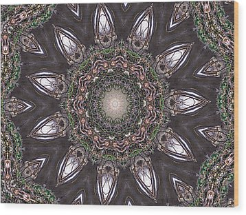 Forest Mandala 1 Wood Print by Rhonda Barrett