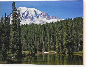 Wood Print featuring the photograph Forest Reflections by Joe Urbz