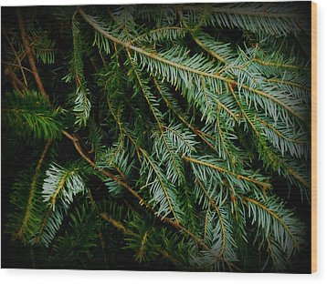 Wood Print featuring the photograph Forever Green by Robin Dickinson