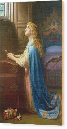 'forget Me Not' Wood Print by Arthur Hughes