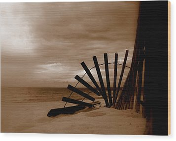 Forgotten Beach Wood Print