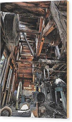 Forgotten Mill Wood Print