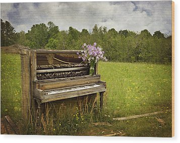Forgotten Tunes Wood Print by Kathy Jennings