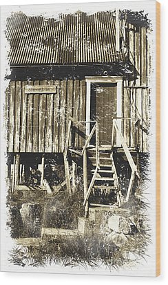 Forgotten Wooden House Wood Print by Heiko Koehrer-Wagner
