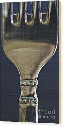 Fork Wood Print by Elena Nosyreva