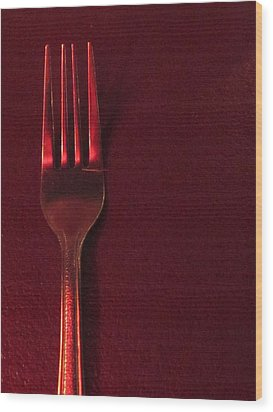 Fork In The Red Wood Print by Guy Ricketts
