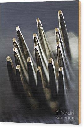 Fork-it Wood Print by Elena Nosyreva
