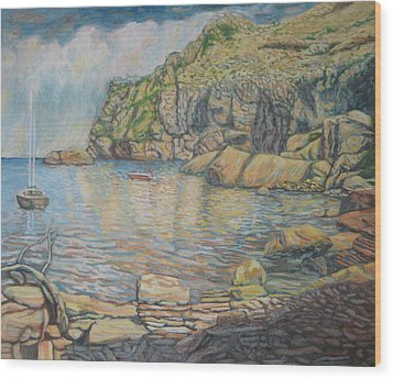 Formentor's Cove Wood Print