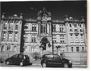 Former Kilmarnock Technical School And Academy Building Now Academy Apartments Scotland Uk Wood Print by Joe Fox