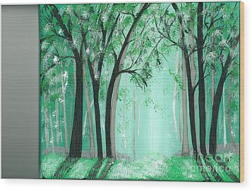 Forrest Wood Print by Kat Beights