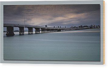 Wood Print featuring the photograph Forster Bridge 01 by Kevin Chippindall