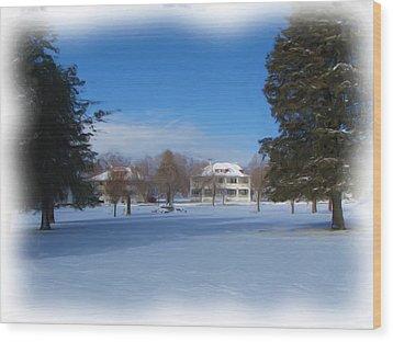 Fort Bayard In Winter Wood Print by FeVa  Fotos