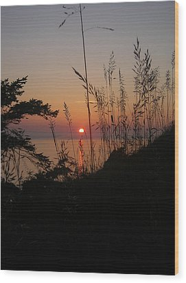 Fort Ebey Sunset Wood Print