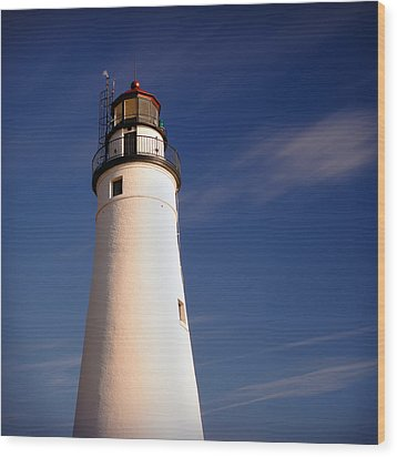 Wood Print featuring the photograph Fort Gratiot Lighthouse by Gordon Dean II