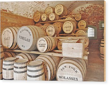 Fort Macon Food Supplies_9070_3759 Wood Print by Michael Peychich