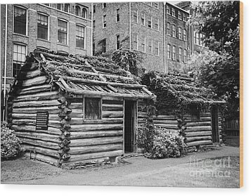 fort nashborough stockade recreation Nashville Tennessee USA Wood Print by Joe Fox