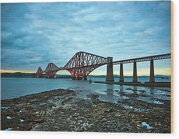 Forth Rail Bridge Wood Print by Svetlana Sewell