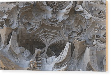 Fossils. Wood Print by Tautvydas Davainis