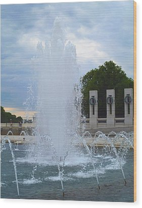 Wood Print featuring the photograph Fountain In D.c. by Susi Stroud