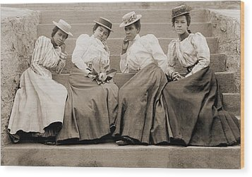 Four African American Women Students Wood Print by Everett
