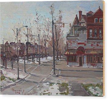 Four Corners At Bidwell Parkway Wood Print by Ylli Haruni