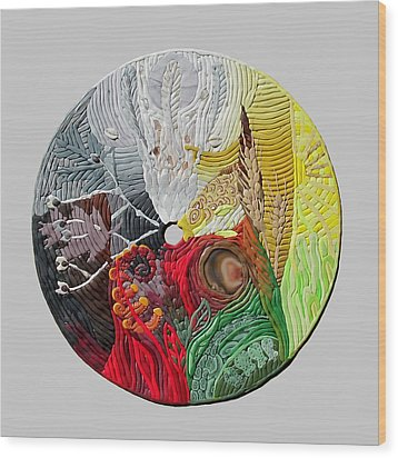 Four Directions  2 Wood Print by Arla Patch
