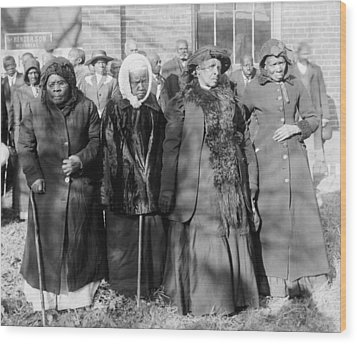 Four Elderly African American Women Wood Print by Everett