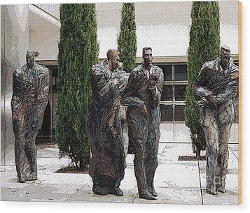 Four Men Wood Print by Patricia Januszkiewicz