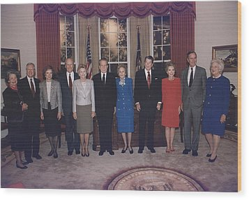 Four Presidents And Five First Ladies Wood Print by Everett