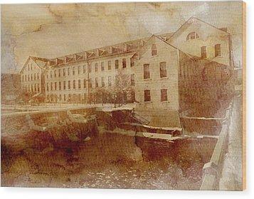 Fox River Mills Wood Print by Joel Witmeyer
