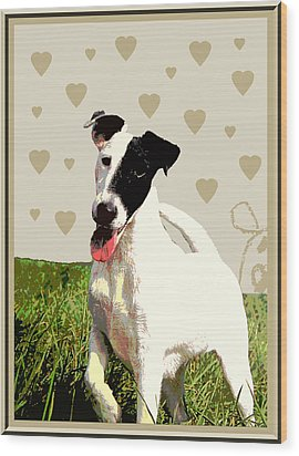 Fox Terrier Smooth Wood Print by One Rude Dawg Orcutt