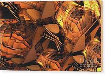 Fractal - Orchestra Wood Print by Bernard MICHEL