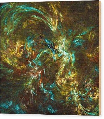 Fractal002 Wood Print by Svetlana Sewell