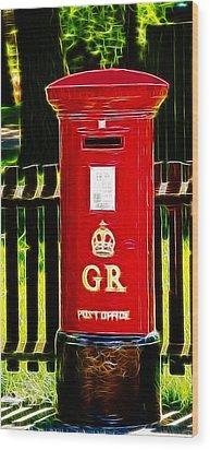 Fractalius Pillar Box Wood Print by Chris Thaxter