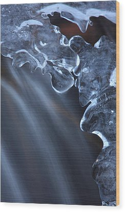 Fragile Ice Formation Wood Print by Ulrich Kunst And Bettina Scheidulin