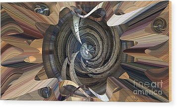 Frame Ceiling Wood Print by Ron Bissett