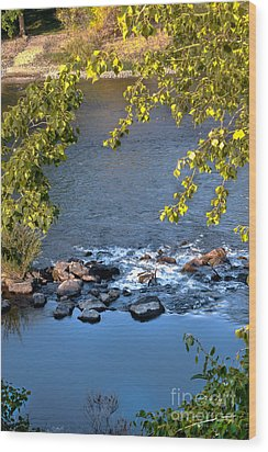 Framed Rapids Wood Print by Robert Bales